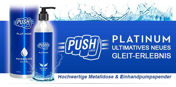 Banner der Gleitgel Push Platinum Lubes