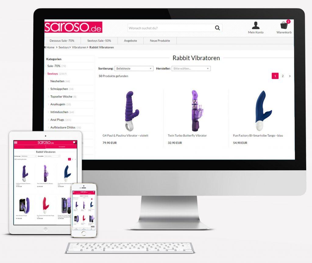 Saroso Redesign 2016 - Kategorien