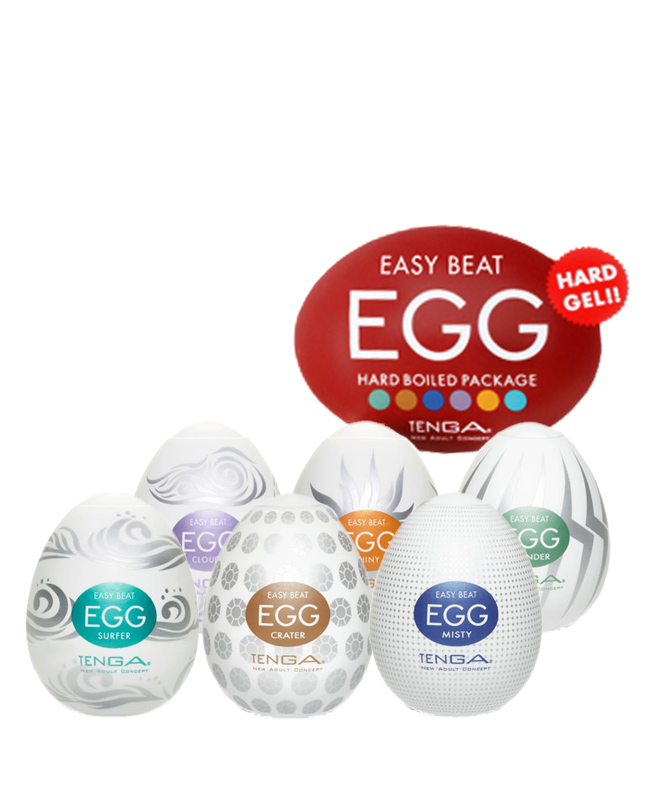 Alle Tenga Eggs des Tenga Easy Beat Hard Boiled Egg Sets