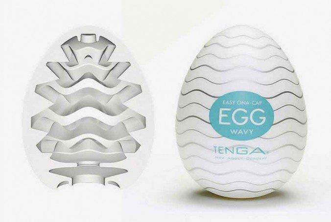 Tenga Egg Wavy - Innen und Außen Ansicht