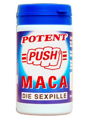 Verpackung der Push Maca Potenzmittel Pillen