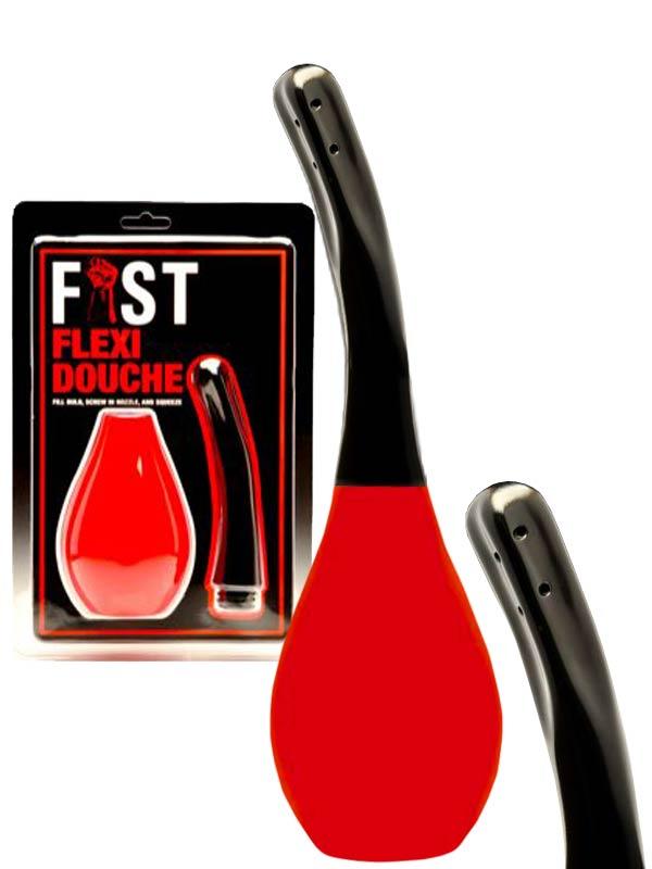 Verpackung und Fist Flexi Analdusche (rot)
