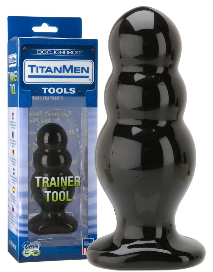 Verpackung und TitanMen Trainer Tool von Doc Johnson